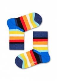 Happy Socks Kids Stripe sokken Blauw