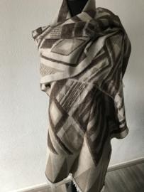 Nieuw! Sjaal Kate taupe