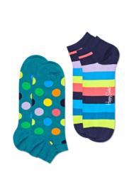 Happy Socks 2-Pack Low | Sneaker Socks Big Dot