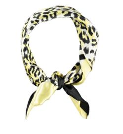 Sarlini Neksjaaltje | Haarsjaaltje Leopard Zwart Geel