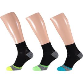 X-treme Running | Hardloop sokken | Multi Black | 3-Pack