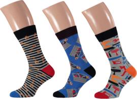 Apollo | Tools grey Socks | 3-Pack Giftbox | Maat 41-46