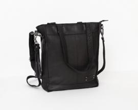 Bag2Bag Canora Zwart | Stoere grote Shopper | Schoudertas