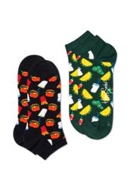 Happy Socks 2-Pack Low | Sneaker Socks Hamburger