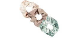 Sarlini Haarelastiek Scrunchies Dipped Green Taupe | 3 stuks