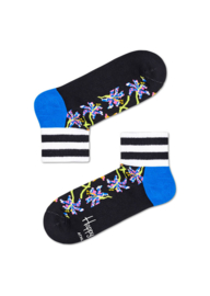 Happy Socks Athletic Lily 1/4 Crew Sneaker Sock Zwart