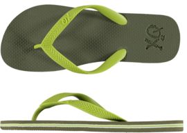 XQ Heren Basis FlipFlop Army Green/Lime