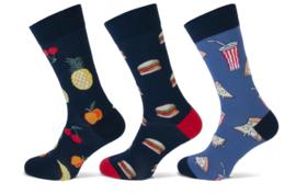 Teckel Heren Junkfood sokken 3-Pack Maat 40/46