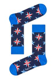 Happy Socks Nautical Star sokken Blauw