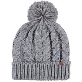 Sarlini   Knitted Dames Wintermuts Licht Grijs Kabel   Joy