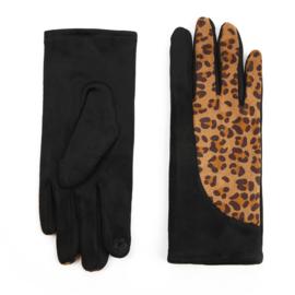 Dames handschoenen Zwart met Tijgerprint