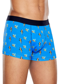 Happy Socks Men's Trunk Parrot Blauw