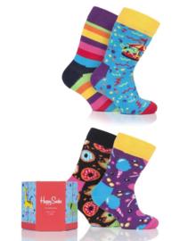 Happy Socks Kids 4 Pack Carousel Gift Box Maat 0-12 maanden, Maat 13-21