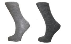 Boru Lamswollen sokken | 2-Pack | Antraciet & Grijs