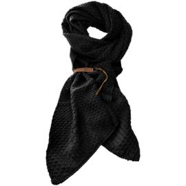 LOT83 | Bo | Lange knitted Gebreide Sjaal | Zwart