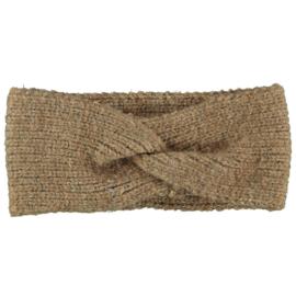Sarlini   Knitted Gebreide Haarband Clara   Camel Melange