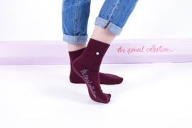 Alfredo Gonzales Short |Low Sock, Pencil Bordeaux
