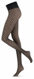 Oroblu    Rich Diamond 20 Denier Dames Panty   Zwart/Zilver