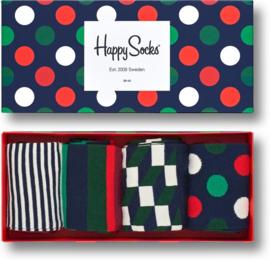 Happy Socks Christmas 4-Pack Big Dot Gift box