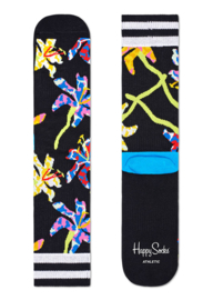 Happy Socks Athletic Lily Crew Sock Zwart