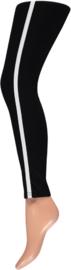 Sarlini | Jersey Dames Sportieve Legging met streep | Zwart/Wit 000116195000