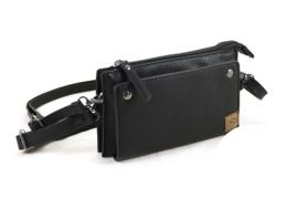 Zwart heuptasje | schoudertasje Gulpen