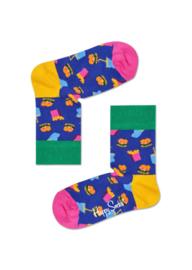Happy Socks Kids Hamburger sokken Blauw