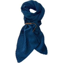 LOT83 | Bo | Lange knitted Gebreide Sjaal | Donkerblauw