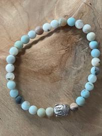 Natuursteen Armband | Buddha Amazoniet 6mm