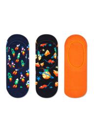 Happy Socks 3-Pack Liner | Sneaker Socks Rocket