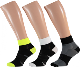 Xtreme Cycling Ankle   Fiets sokken   Multi Black   3-Pack