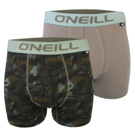 O'Neill Heren Boxershorts Camouflage & Plain  Olive | 2-pack | 900622