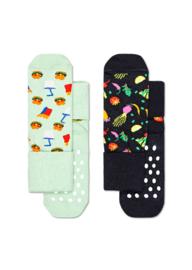 Happy Socks 2-Pack Antislip, Food,  6-12 maanden, Maat 17-21