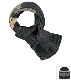 Sarlini lange gebreide Heren sjaal Antraciet/Creme