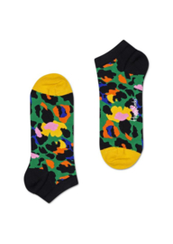 Happy Socks Low Socks | Sneaker Sok | Leopard Groen