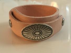 Stud armband overlap roze