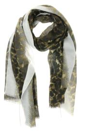 Lange zomersjaal Spring Leopard, Licht grijs  91109