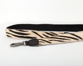 Bag2Bag Verwisselbare schouderband Zebra zwart 110cm