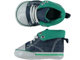 Baby Boy, Baby Girl Sneakerschoentjes | Jeansblauw Groen