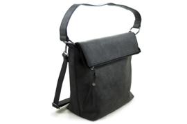 Zwarte schoudertas / shopper Cork