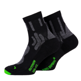 Boru Bamboo Outdoor Sock | Wandel sokken | Zwart