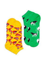 Happy Socks 2-Pack Low | Sneaker Socks Lip