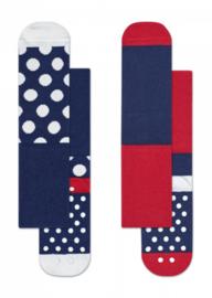 Happy Socks 2-Pack Antislip, Big Dot, 6-12 maanden, schoenmaat 15-18