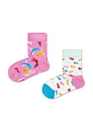 Happy Socks Kids 2-Pack Cat Socks