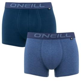 2-Pack O'Neill Heren Boxershorts Blue Melange, 900002