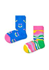 Happy Socks Kids 2-Pack Rainbow Smile Socks