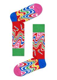Happy Socks Christmas Psychedelic Candy Cane Socks