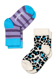 Happy Kids 2-pack Leopard & Stripes