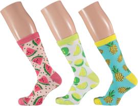 Apollo   Fruit Socks   3-Pack Giftbox   Maat 36-41