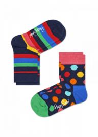 Happy Socks Kids 2-pack  Big Dot & Stripes